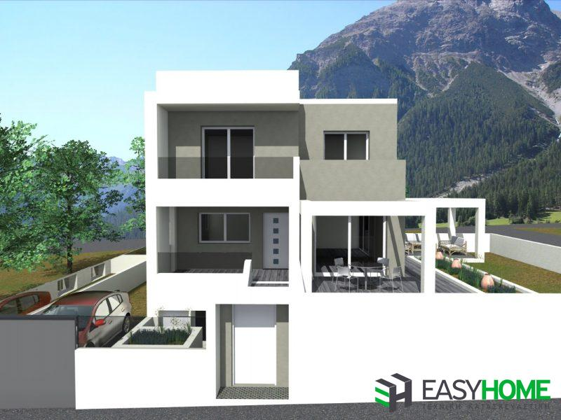 Οικία 130m² και υπόγειο 75m²